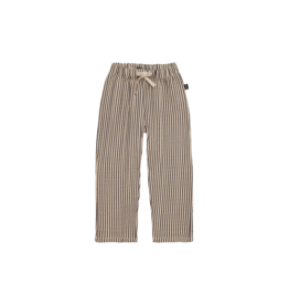 House of Jamie Relaxed Pants Charcoal Sheer Stripes