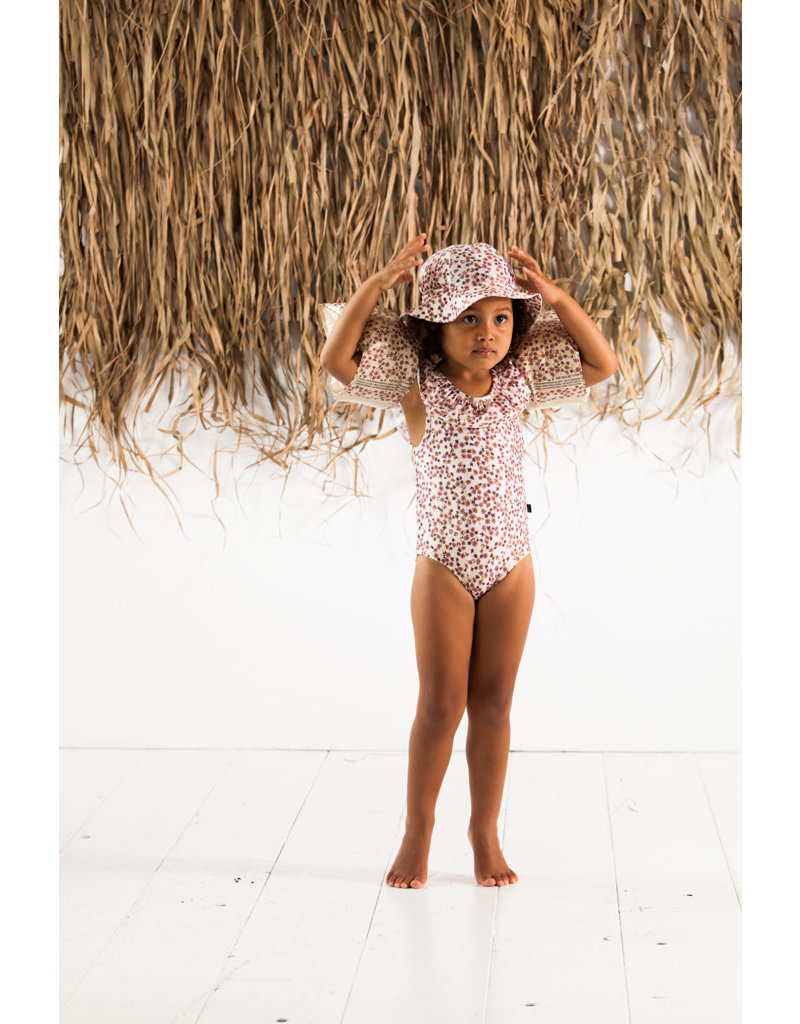 House of Jamie Frill Swimsuit Golden Dawn Blossom