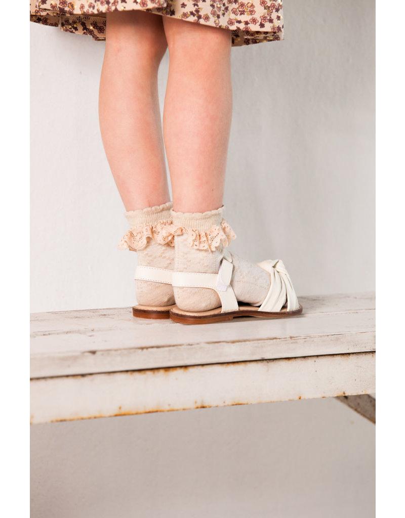 House of Jamie Ankle Socks Perline Oatmeal & Lace