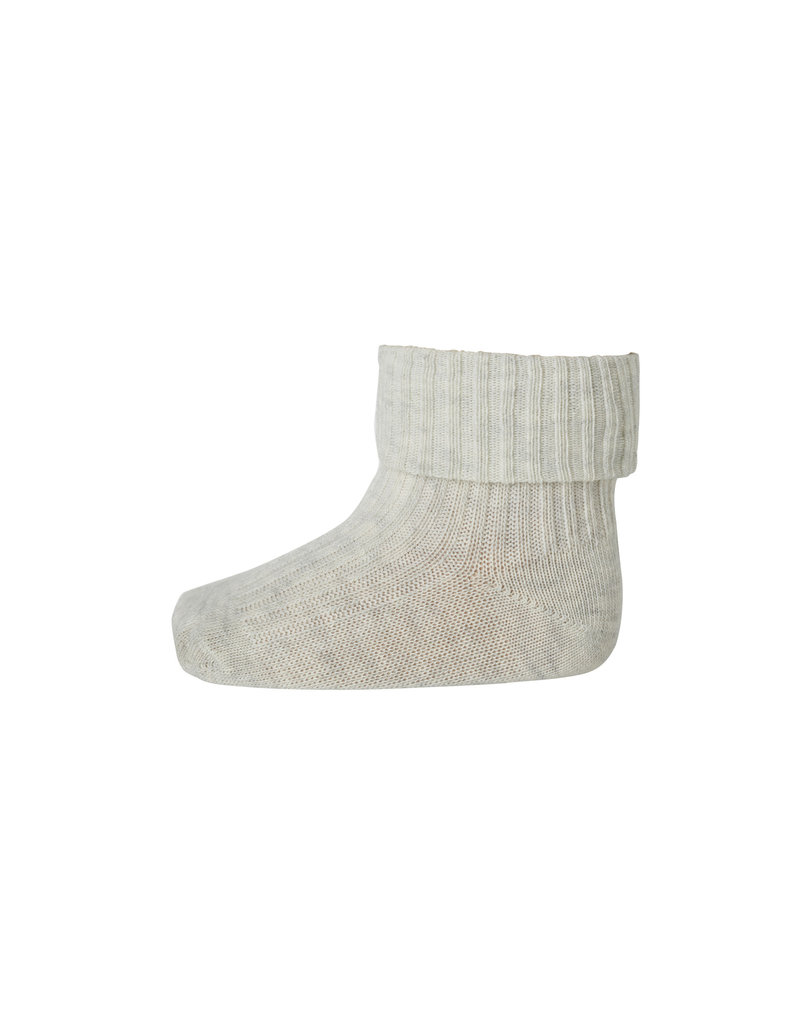 mp Denmark Cotton Rib Baby Socks Beige 499