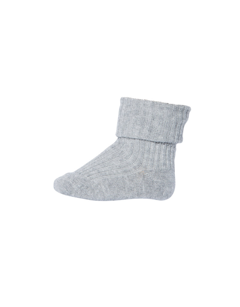 mp Denmark Cotton Rib Baby Socks Grey 491