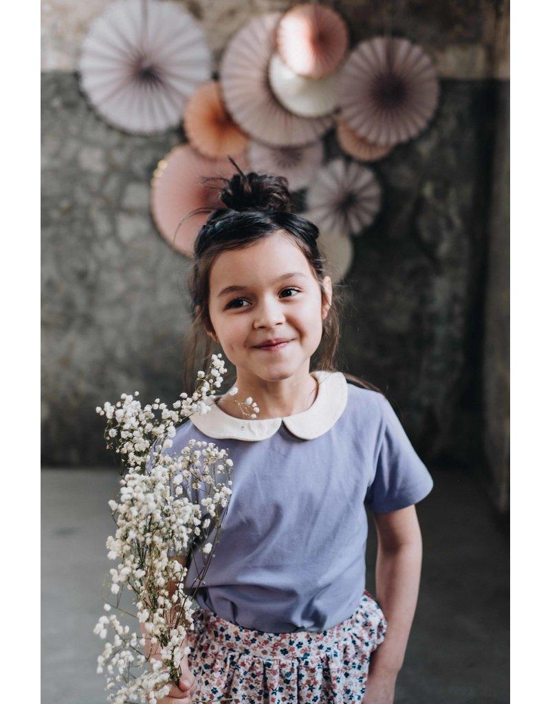 Blossom Kids Peterpan shirt short sleeve Lavender Gray