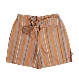 CarlijnQ Multi-color stripes - paperbag shorts