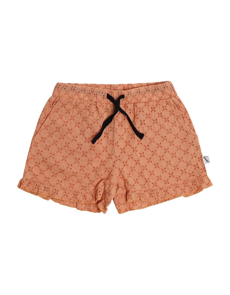CarlijnQ Broderie ruffled shorts
