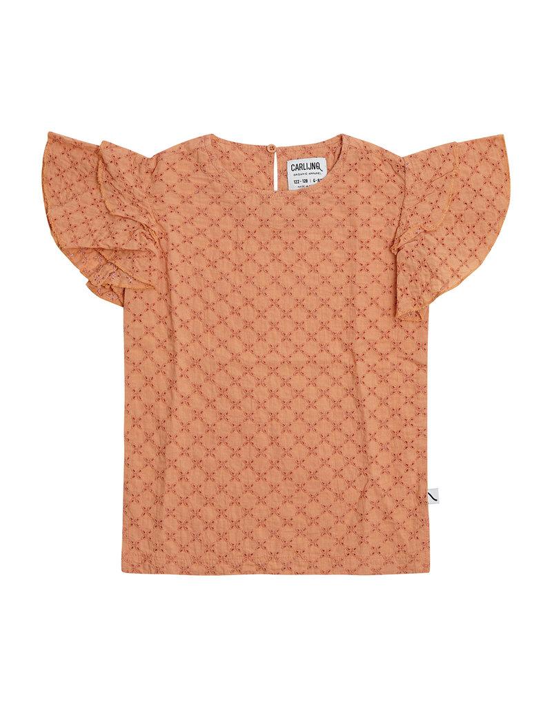 CarlijnQ Broderie ruffled shirt