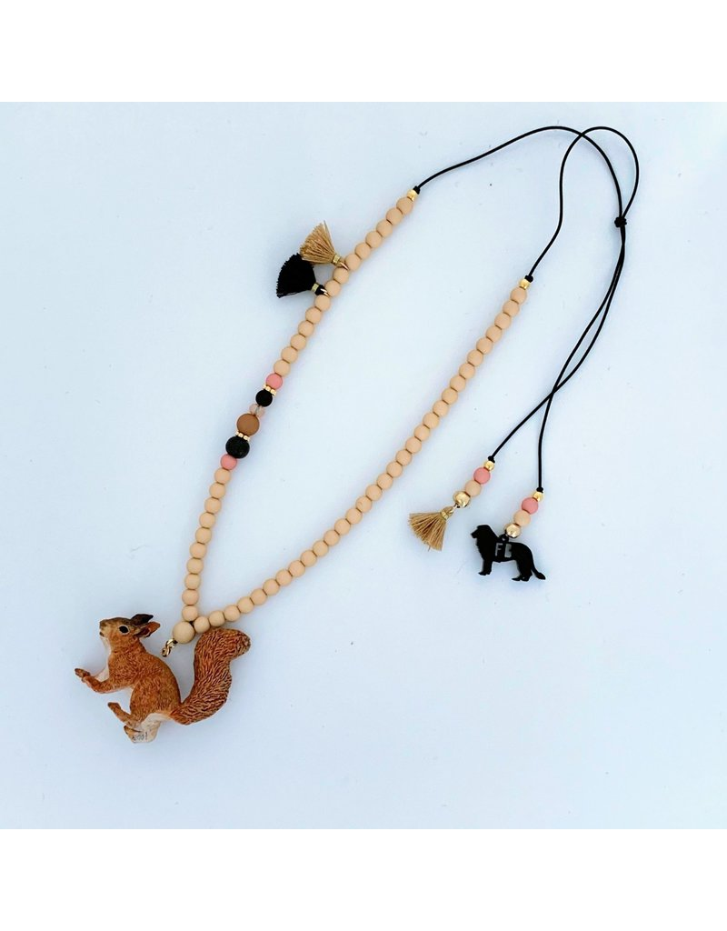 Feestbeest Kids Ketting Wooden chique