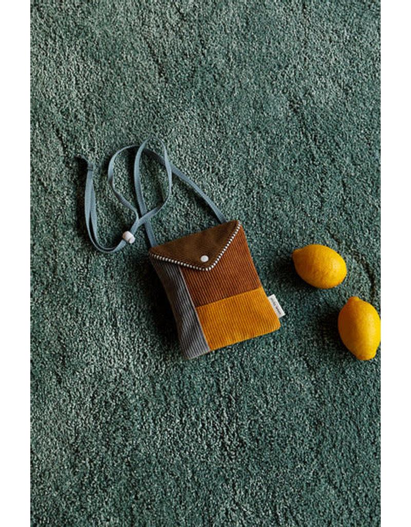 Sticky Lemon Sticky Lemon wallet bag  Sprinkles corduroy woody green