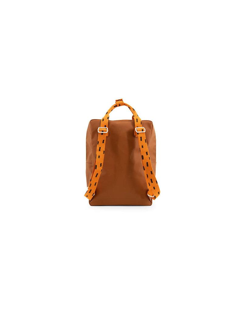 Sticky Lemon Backpack large sprinkles envelope syrup brown