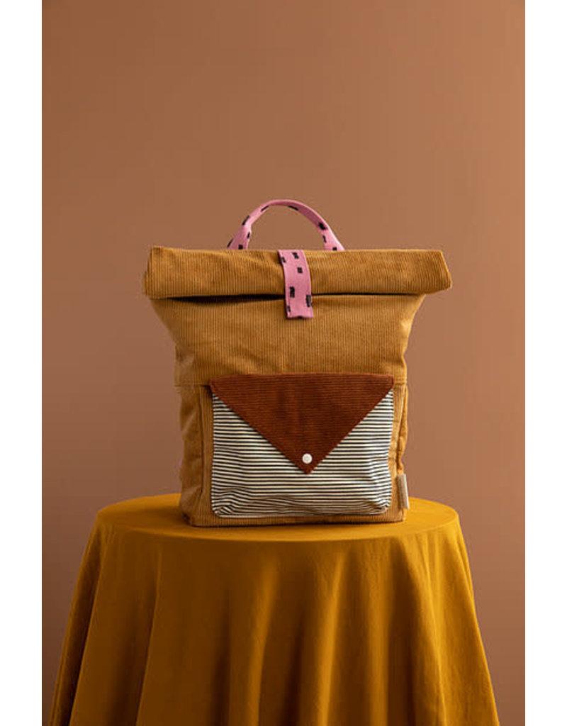 Sticky Lemon Backpack Large  Corduroy envelope - dijon
