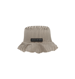 House of Jamie Summer Hat Charcoal Sheer Stripes