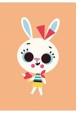 Petit Monkey Postcard Rabbit