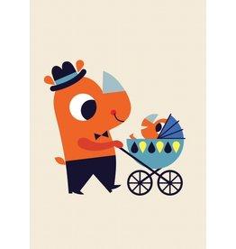 Petit Monkey Postcard Rhino Boy