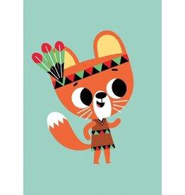 Petit Monkey Postcard Squirrel