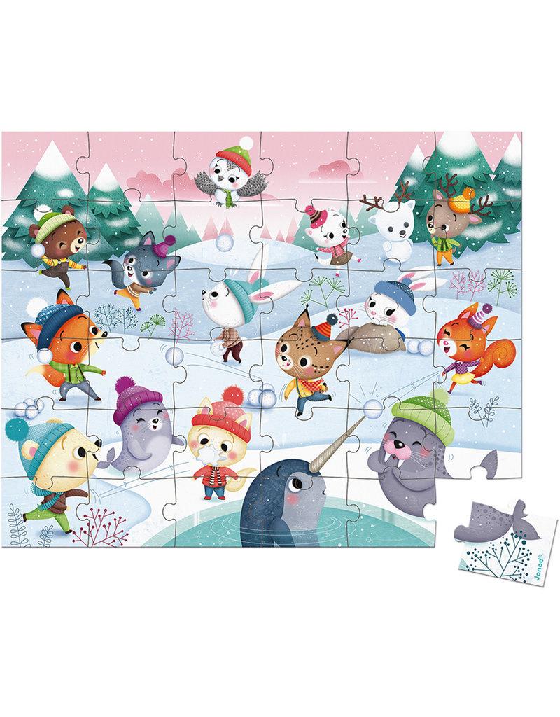 Janod Puzzel - Sneeuwfeest 36 Stukjes