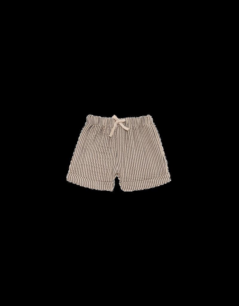 House of Jamie Bermuda Charcoal Sheer Stripes