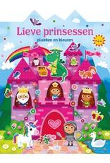 Boeken Plakken en kleuren - Lieve prinsessen