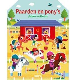 Boeken Paarden en pony's: plakken en kleuren