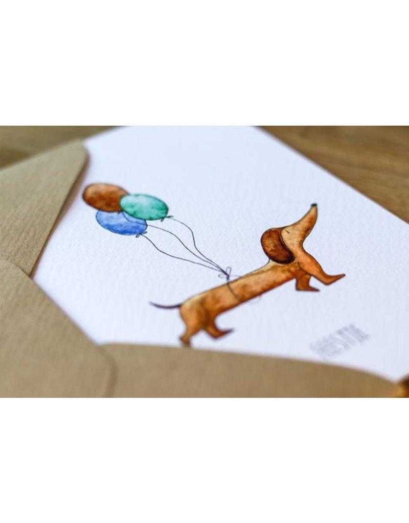 Juulz Illustrations & Design Gevouwen Kaart - Feesttekkel
