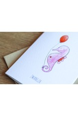 Juulz Illustrations & Design Gevouwen kaart - Zwanger Zeepaardje