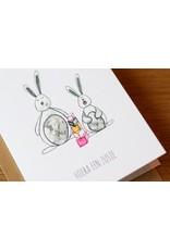 Juulz Illustrations & Design Gevouwen kaart - Hoera een zusje