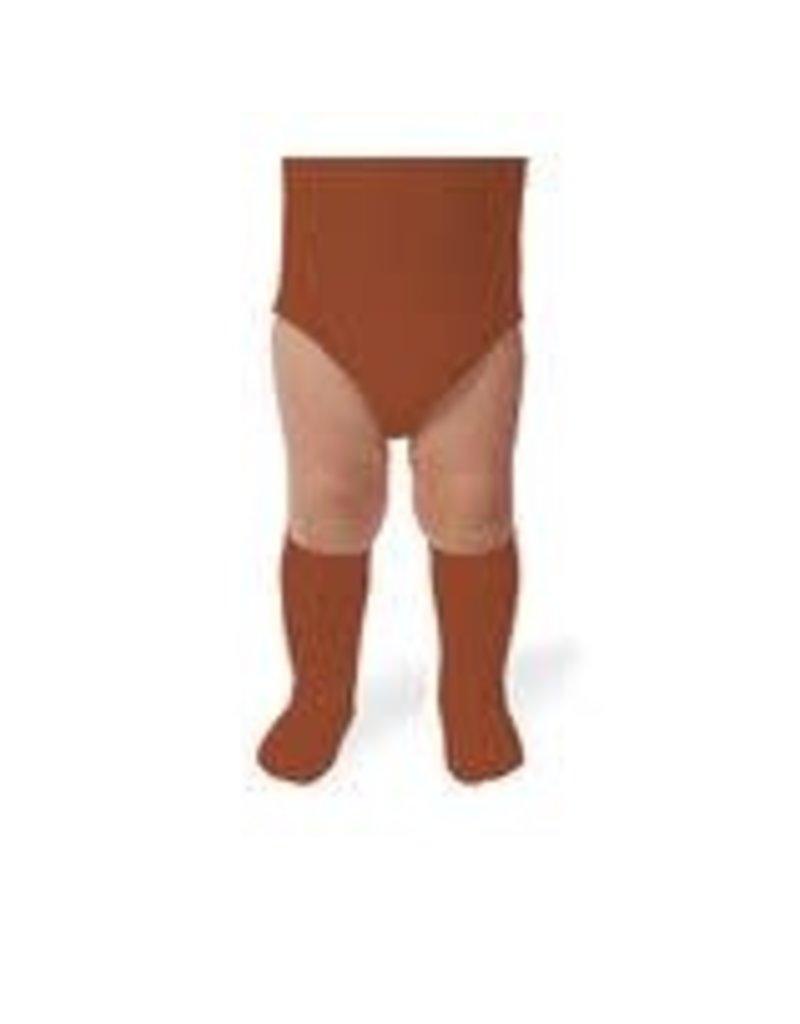 Collégien La Haute - Ribbed Knee-high Socks - Pain d'épice
