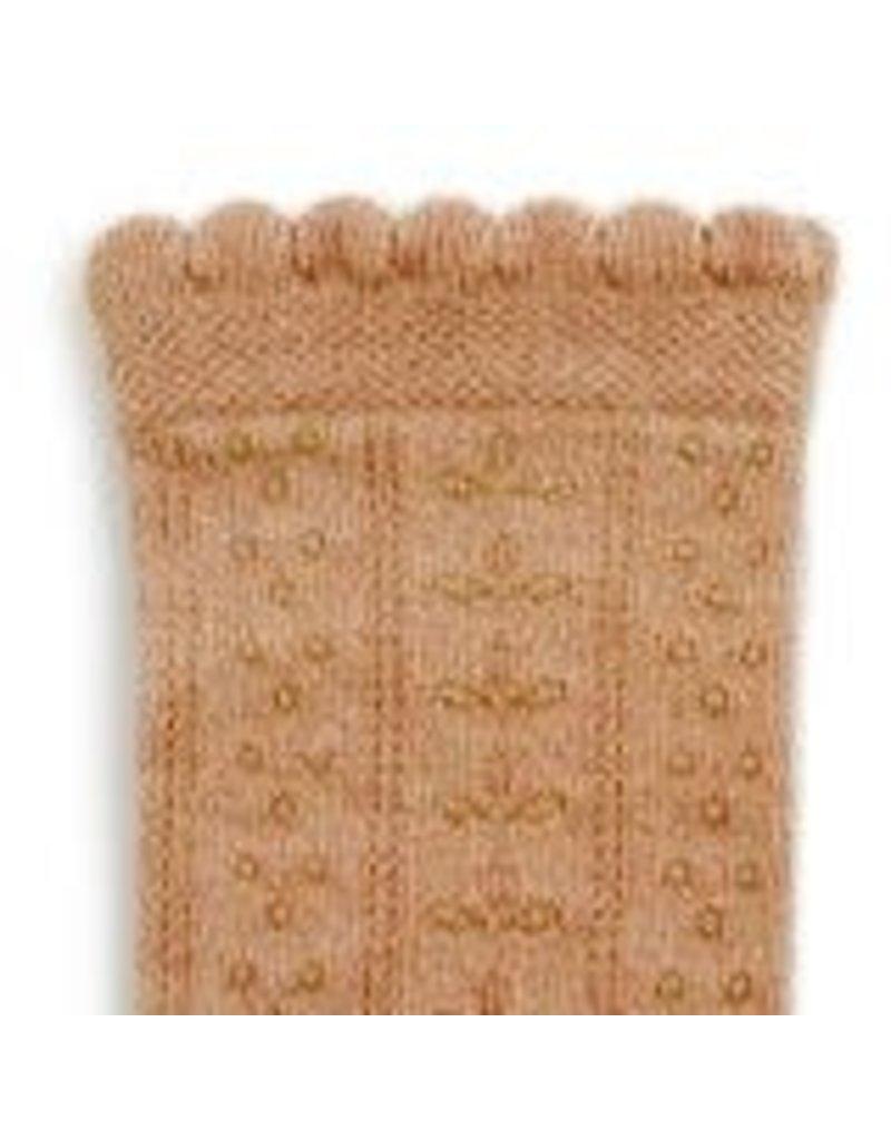 Collégien Juliette - Pointelle Organic Cotton Knee-high Socks - Petite Taupe