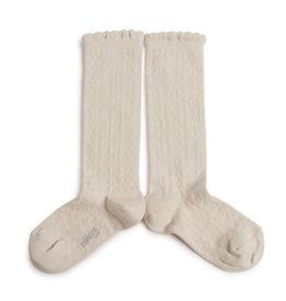 Collégien Juliette - Pointelle Organic Cotton Knee-high Socks - Doux Agneaux