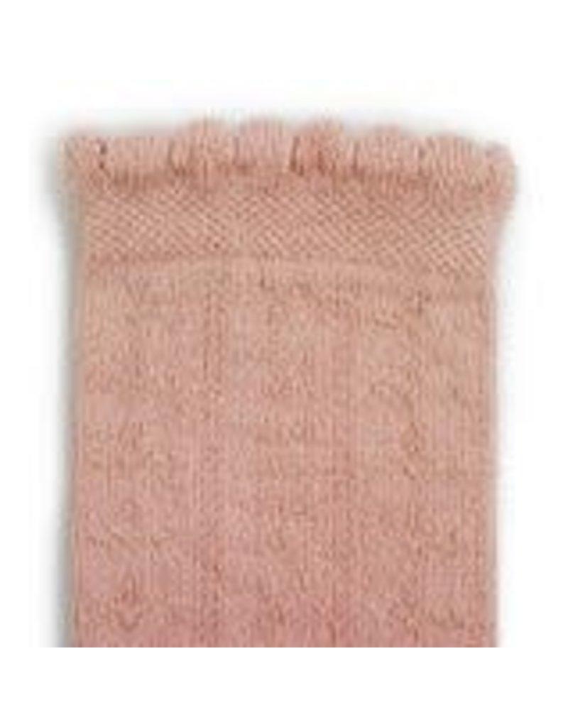Collégien Juliette - Pointelle Organic Cotton Knee-high Socks - Vieux Rose