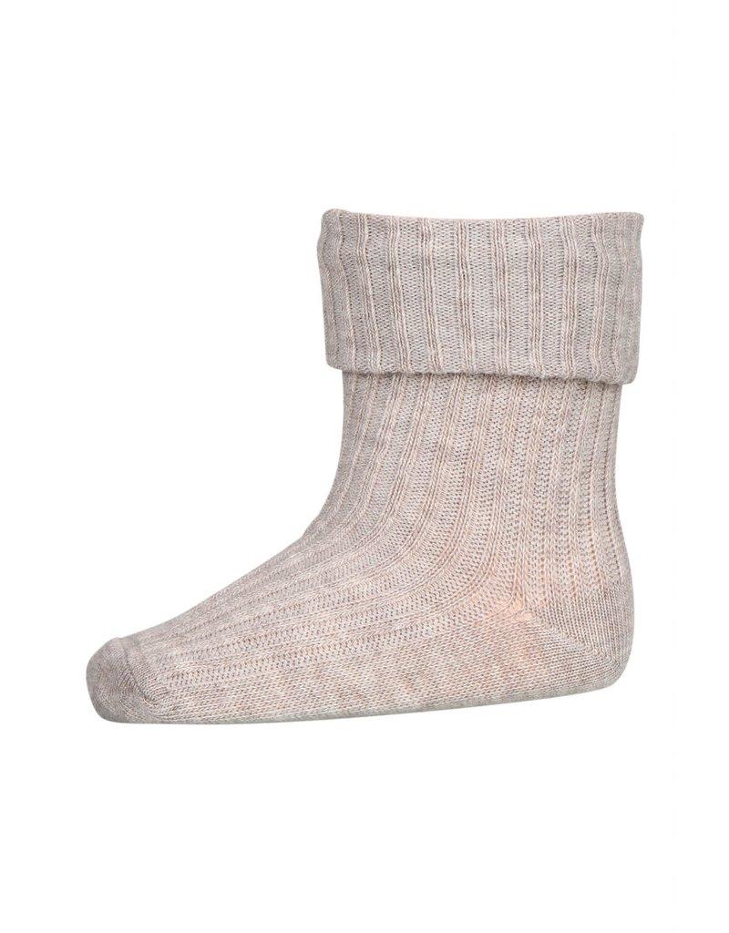 mp Denmark Cotton Rib Socks Sand 489