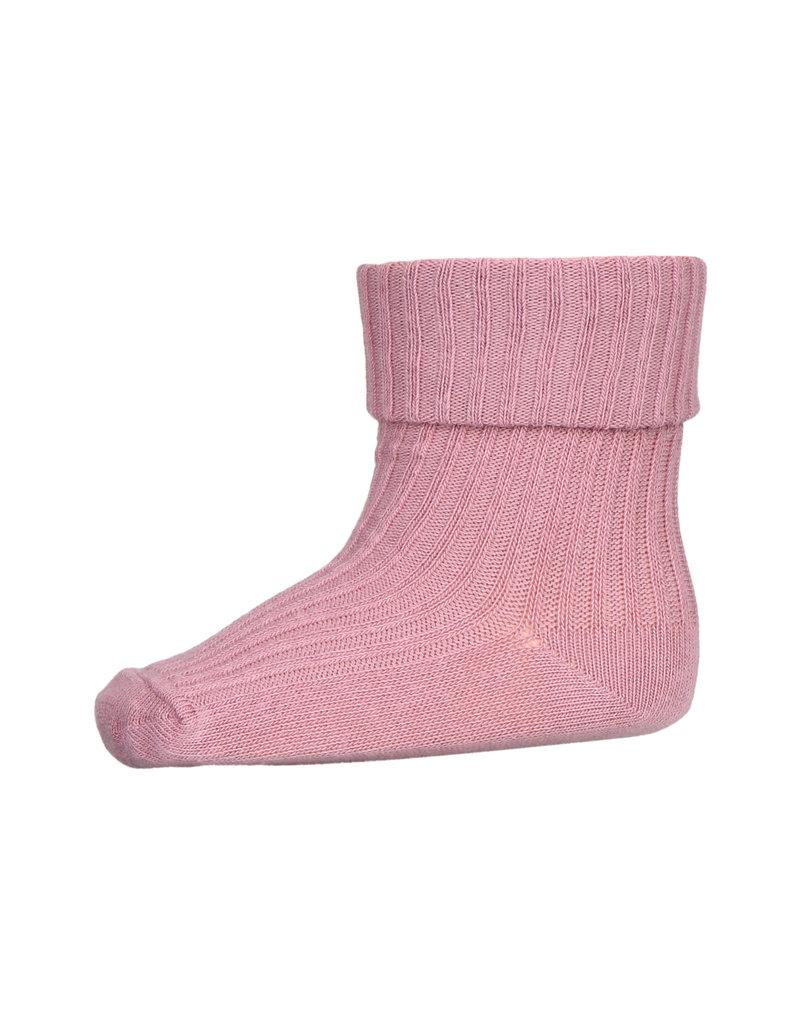 mp Denmark Cotton Rib Sock Wishful Rose 4271