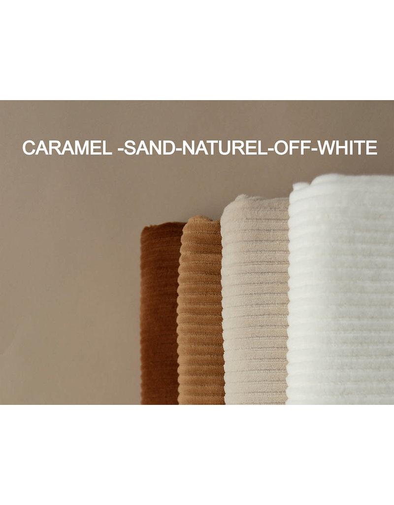 Nanami Wrapblanket Ribvelvet Natural