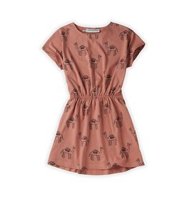 Sproet & Sprout Skater Dress Print Camel