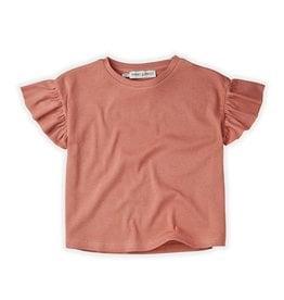 Sproet & Sprout T-Shirt Rib Ruffle Rose