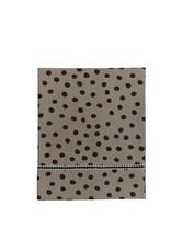 Mies & Co Baby crib sheet bold dots dark brown