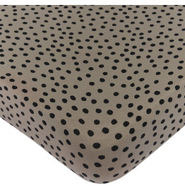 Mies & Co Fitted sheet baby crib bold dots dark brown