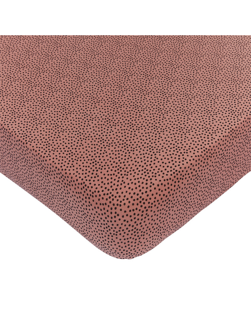 Mies & Co Fitted sheet baby crib cozy dots redwood