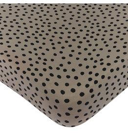 Mies & Co Ledikant Hoeslaken bold dots dark brown
