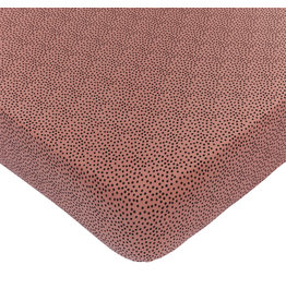 Mies & Co Fitted sheet toddler bed cozy dots redwood