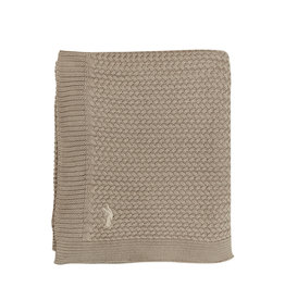 Mies & Co Soft knitted blanket baby crib Dune