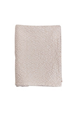 Mies & Co Subtile honeycomb blanket toddler bed soft pink