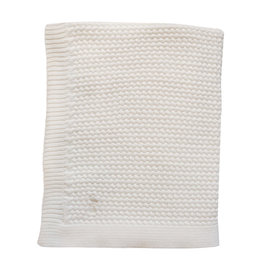 Mies & Co Soft knitted blanket baby crib offwhite