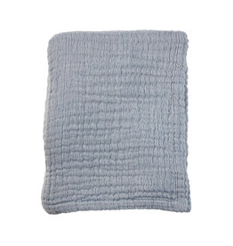 Mies & Co Soft mousseline blanket baby crib summer blue