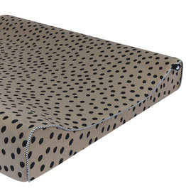 Mies & Co Changing mat cover bold dots dark brown