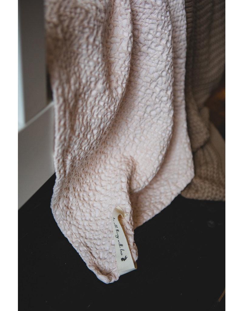 Mies & Co Wiegdeken Honeycomb soft pink