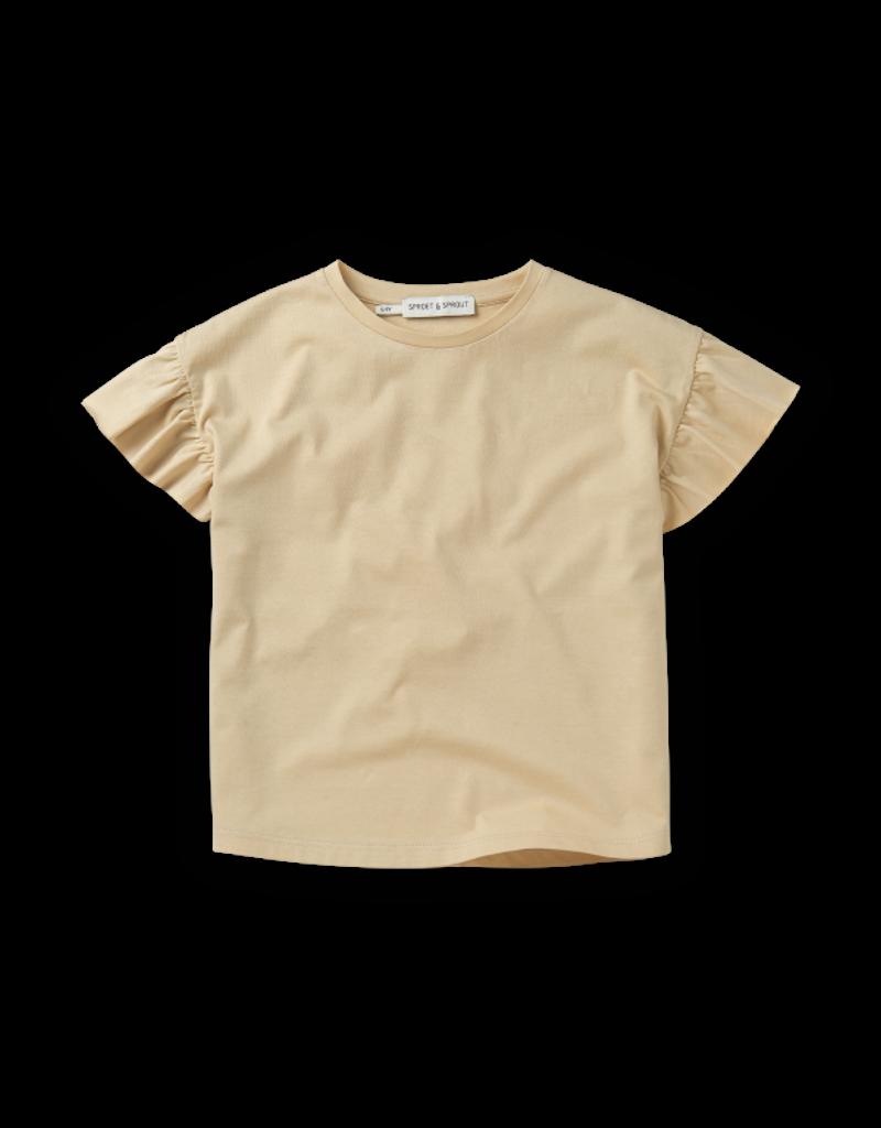Sproet & Sprout T-shirt Ruffle Sesame Basic