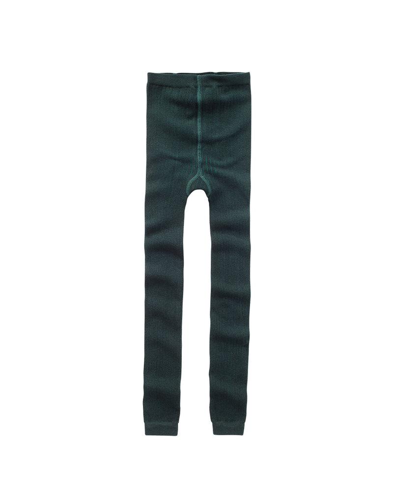 Mingo Sockless Tights Dark Emerald