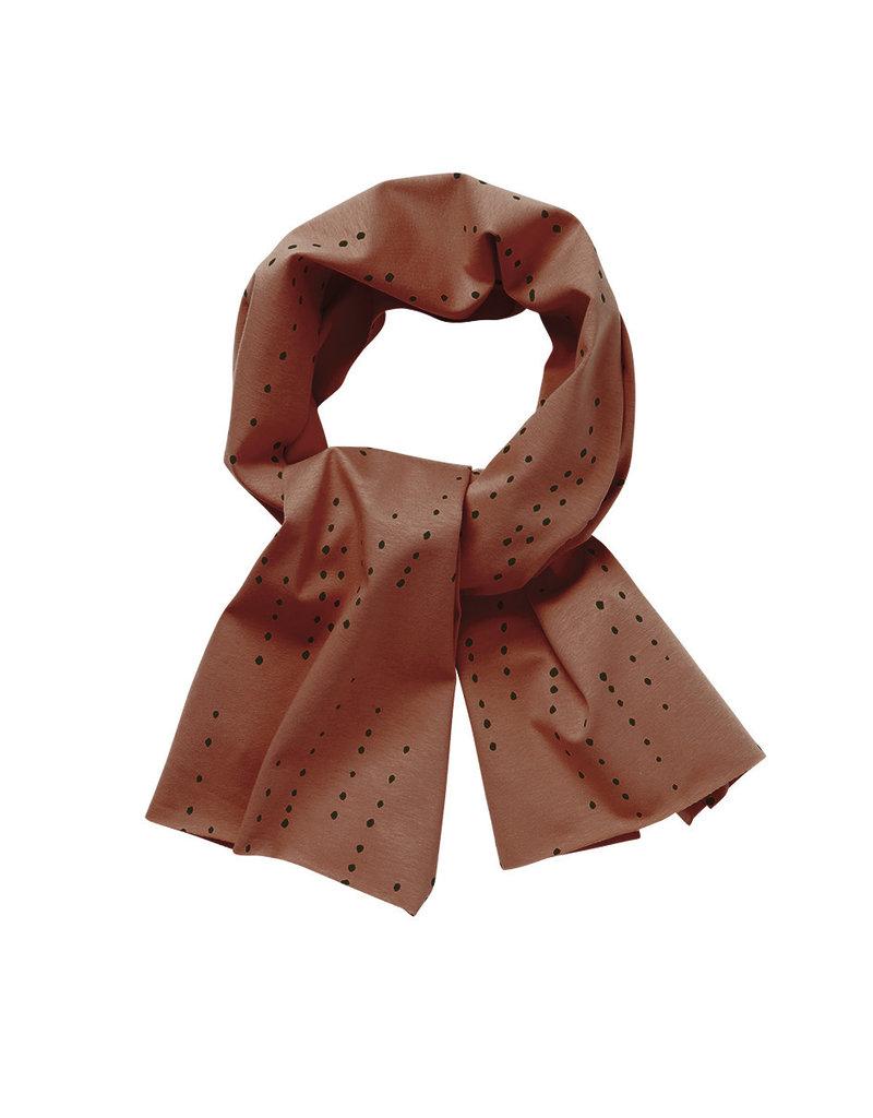 Mingo Scarf Dewdrops on Burnished Leather
