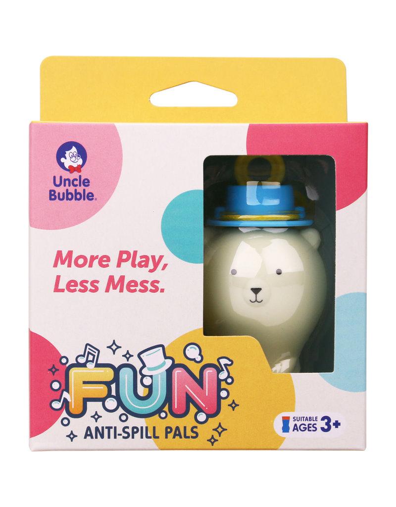 Uncle Bubble Fun Anti-Spill Pals - White Bear