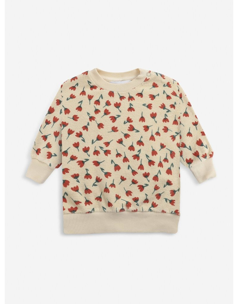 Bobo Choses Flowers All Over terry sweatshirt