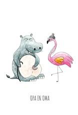 Juulz Illustrations & Design Gevouwen Kaart - Opa en Oma